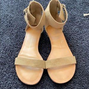 Tan cuff sandals